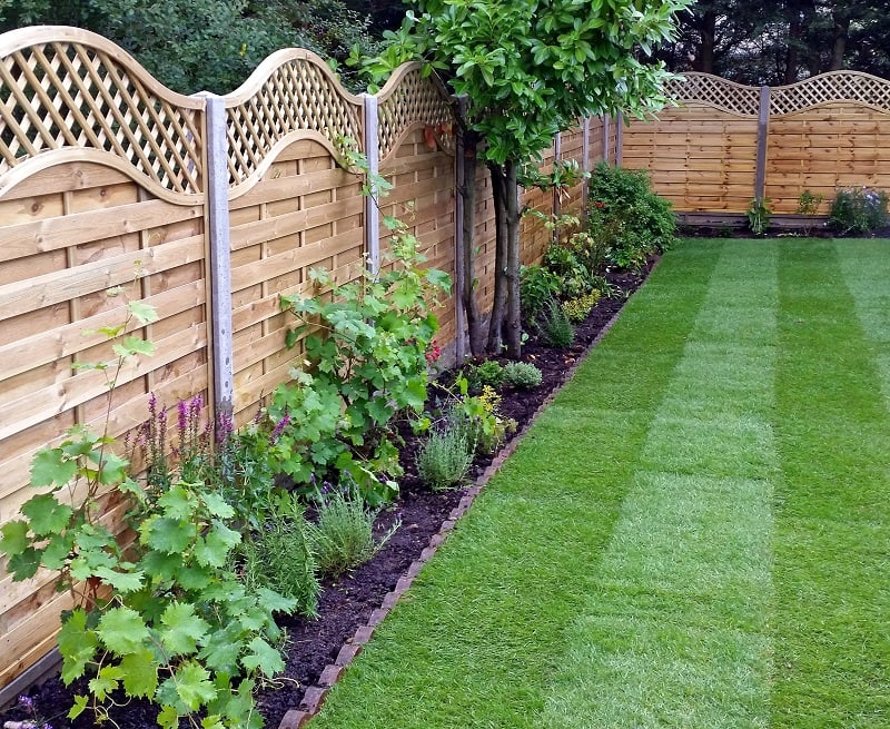 Wooden garden fencing ideas acacia gardens Wood garden fence designs